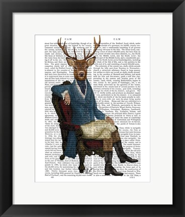 Framed Distinguished Deer Full Print