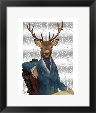 Framed Distinguished Deer Portrait Print