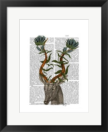 Framed Blue Gazelle Print