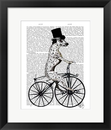 Framed Dalmatian on Bicycle Print