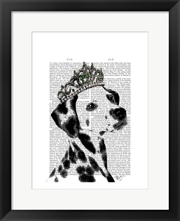 Framed Dalmatian with Tiara Print