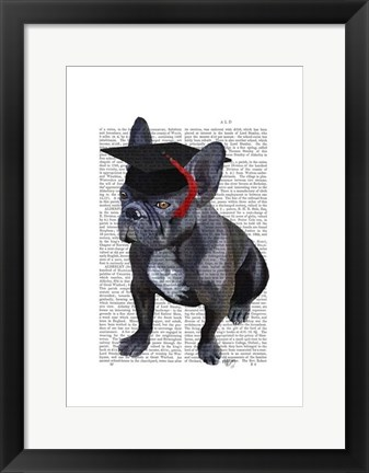 Framed Graduation French Bulldog Print
