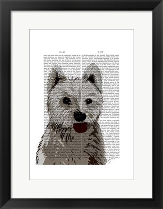 Framed West Highland Terrier Plain Print