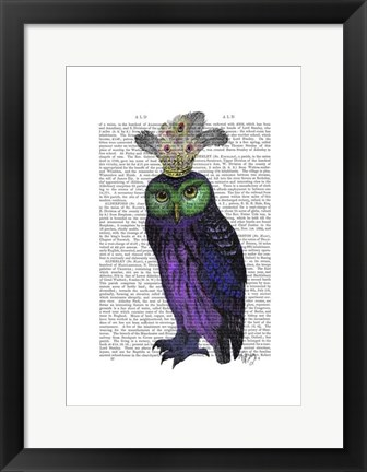 Framed Purple Owl Print