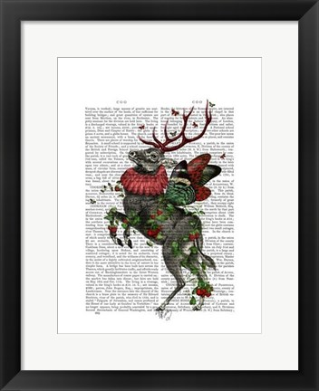 Framed Strawberry Deer Print