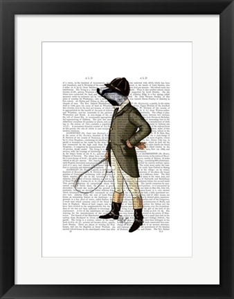 Framed Badger The Rider Full I Print