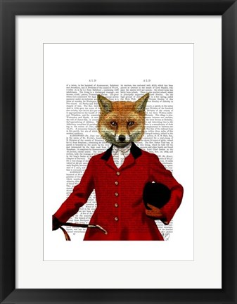 Framed Fox Hunter 2 Portrait Print
