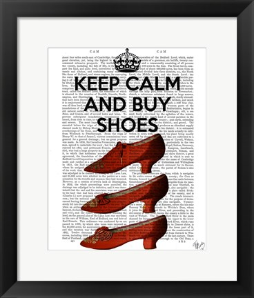 Framed Keep Calm Buy Shoes Print
