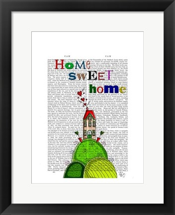 Framed Home Sweet Home Illustration Print