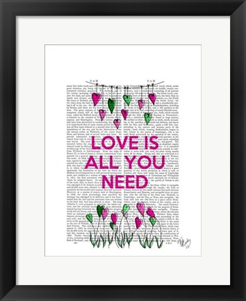 Framed Love Is All You Need Illustration Print
