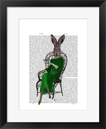 Framed Lady Bella Rabbit Taking Tea Print