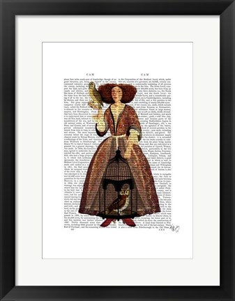 Framed Owl Lady Print