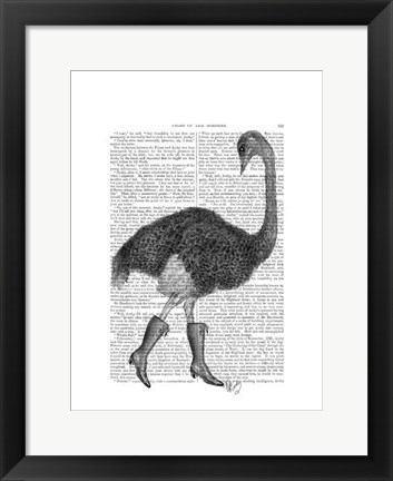 Framed Ostrich In Boots Print