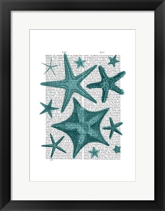 Framed Green Starfish Collection Print