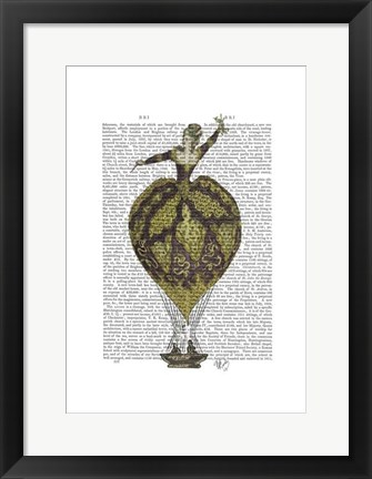 Framed Hot Air Balloon Woman 1 Print
