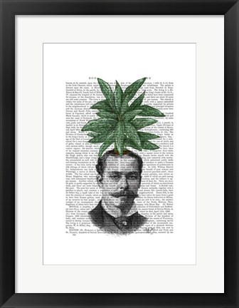 Framed Chinese Evergreen Head Plant Head Print