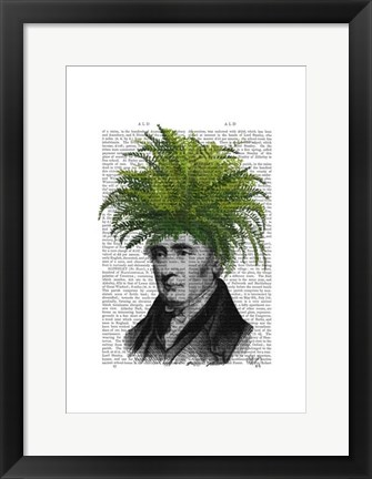 Framed Fern Head Plant Head Print