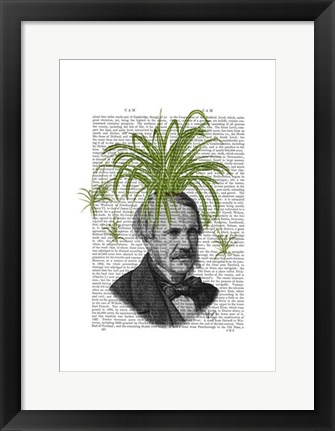 Framed Spider Plant Head Print