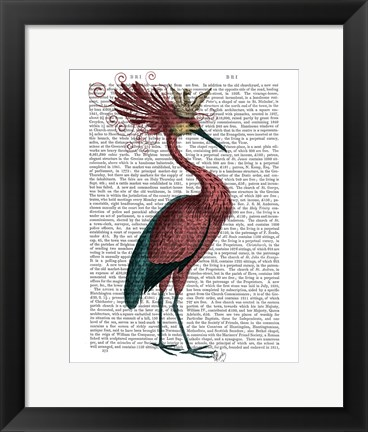 Framed Crowed Marsala Heron Print
