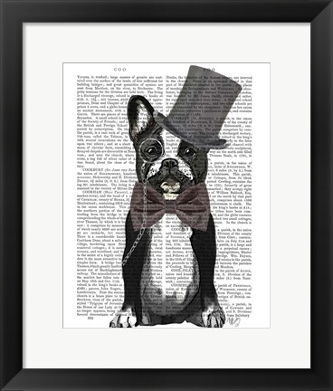 Framed Monsieur Bulldog Print