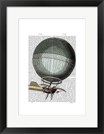 Framed Blanchard Vintage Hot Air Balloon Print