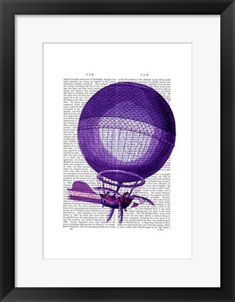 Framed Blanchards Hydrogen (Purple) Hot Air Balloon Print