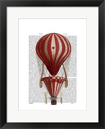 Framed Tiered Hot Air Balloon Print Red Print