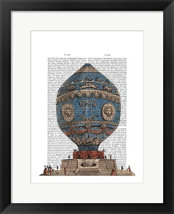 Framed Montgolfier Aerostatique Hot Air Balloon Print