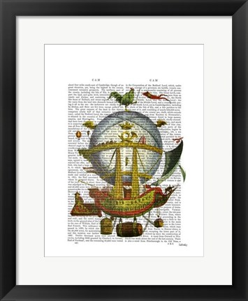 Framed Minerve Hot Air Balloon Print