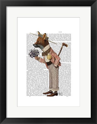Framed Fox in Boater Print