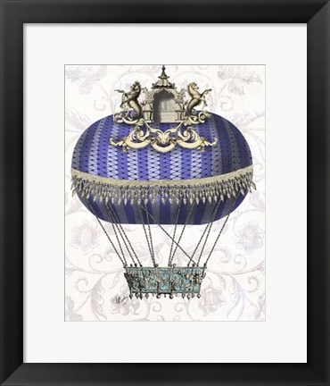 Framed Baroque Balloon With Temple Print