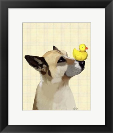 Framed Dog and Duck Print