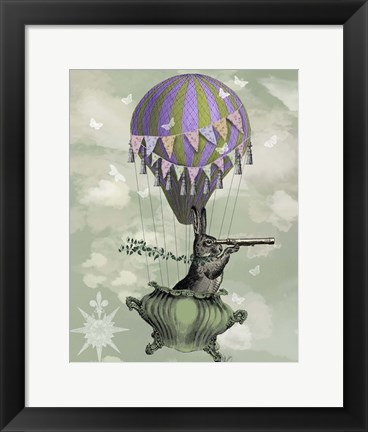 Framed Navigating Rabbit Print