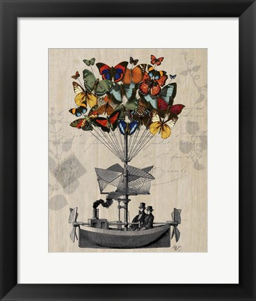 Framed Butterfly Airship Print