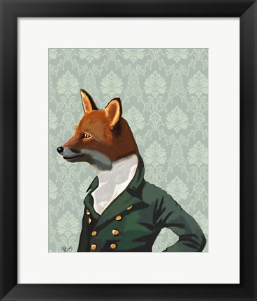 Framed Dandy Fox Portrait Print