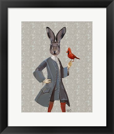 Framed Rabbit And Bird Print