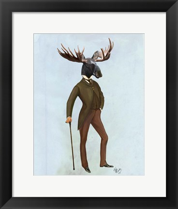 Framed Moose In Suit Full Print