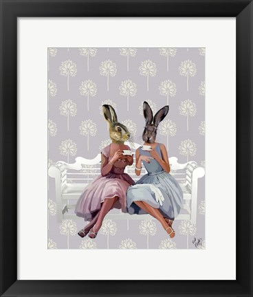 Framed Rabbit Chat Print