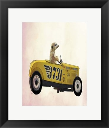 Framed Meerkat in Hot Rod Print