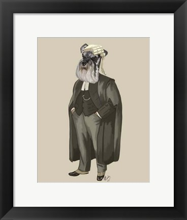 Framed Schnauzer Lawyer Print