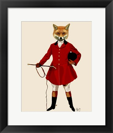 Framed Fox Hunter 2 Full Print