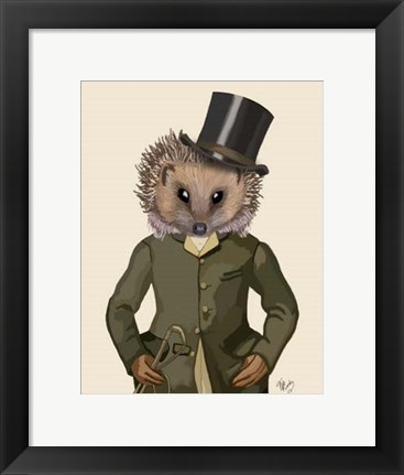 Framed Hedgehog Rider Portrait Print