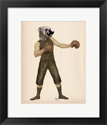 Framed Boxing Bulldog Full Print