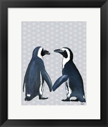 Framed Penguins In Love Print