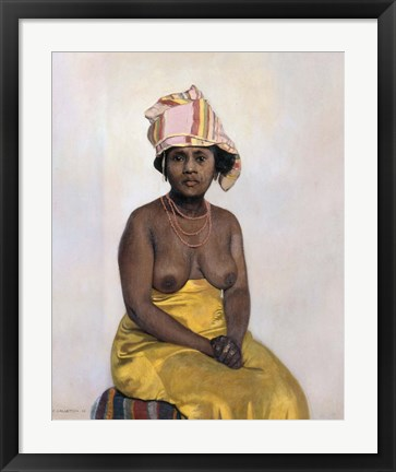 Framed African Woman, 1910 Print