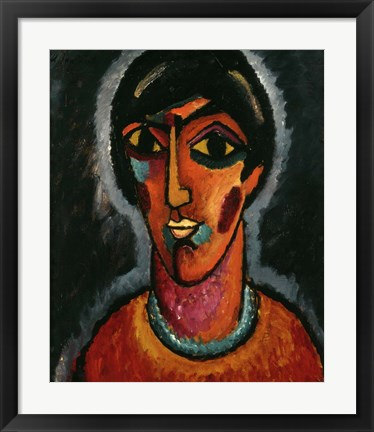 Framed Byzantine Woman with Pale Lips, 1935 Print