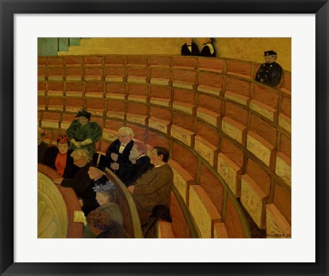 Framed Third Gallery at the Theatre du Chatelet, 1895 Print