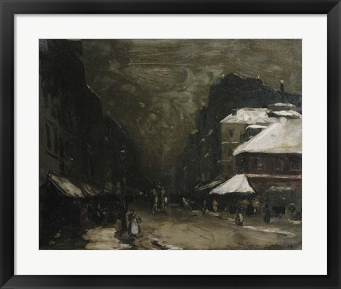 Framed Snow, 1899 Print