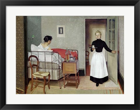 Framed Sick Patient (Helene Chatenay), 1892 Print
