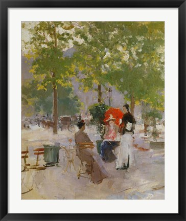 Framed Open-air Parisian Cafe Print